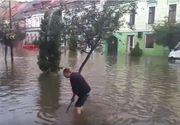 Centrul Sighisoarei, inundat