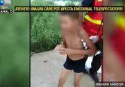 """Un copil de 9 ani, la un pas sa se inece in lacul Fundeni. Un politist si un pompier au sarit in apa dupa el. """"Uite cum se ajuta unul pe celalalt"""". Imagini care va pot afecat emotional"""