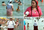 Noi imagini jenante de la mare cu mai multe femei care fac baie imbracate si cu salba la gat. Sunt ruda cu cei care au taiat porcul pe plaja saptamana trecuta
