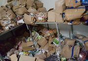 Pericol alimentar in Bacau. Aproape doua tone de produse expirate, multe in stare putrefactie, descoperite intr-un depozit de alimente