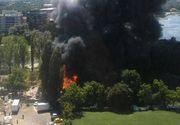 Incendiu in cartierul Floreasca, din Capitala, in apropierea unui club. Pompierii intervin de urgenta