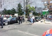 Circulatie blocata pe bulevardul Mihai Bravu din Capitala. Trei autoturisme au fost fost implicate intr-un accident