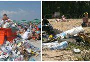 Nu doar plajele Marii Negre sunt transformate in gropi de gunoi de catre turisti. Si plajele Dunarii sunt afectate de vizitatorii care lasa in urma o mizerie de nedescris