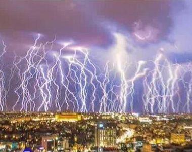 Natura s-a dezlantuit ieri seara in Capitala. Fulgerele au brăzdat cerul, iar tunetele...