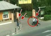 Imagini strigatoare, la Ramnicu Valcea. Un batran este jefuit de patru indivizi. Ce se intampla in secunda urmatoare cu hotii