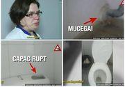 Imagini de groază în spitalul din Slobozia. Uşi mizerabile, igrasie, mobilier ca în Evul Mediu. Managerul institutiei a izbucnit in plans