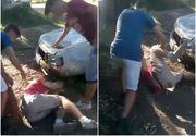 Imagini socante! Un baiat este pus la pamant si lovit cu pumnii si picioarele de alti doi tineri! Scena a fost inregistrata si postata apoi pe internet. Victima a depus plangere la politie | UPDATE
