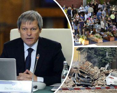 Premierul Dacian Ciolos si ministrul muncii, Dragos Paslaru, au ajuns in Italia,...
