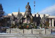Statuia lui Mihai Viteazu, batjocorita la Sfantu Gheorghe. Ce a scris Primaria pe monument