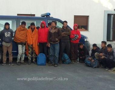 14 migranti prinsi la frontiera Romaniei cu Serbia. Ce au declarat cand au aflat unde...