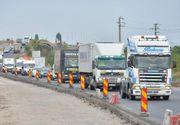 Trafic blocat pe Soseaua de Centura a Capitalei. Aproape 1000 de transportatorii protesteaza impotriva cresterii masive a RCA
