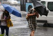 Meteorologii avertizeaza: ploi abundente, vant puternic si grindina pana maine