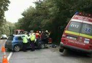 Accident teribil cu un echipaj SMURD din Suceava. Autospeciala se afla in misiune cand a fost lovita de o masina de pe contrasens