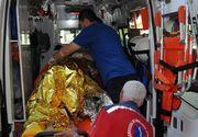 Un barbat a fost ranit si 13 garsoniere afectate in urma exploziei unei butelii intr-un bloc din Medgidia