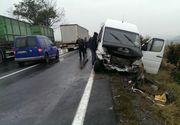 Accident grav la Miercurea Sibiului. 14 oameni au fost raniti. S-a decretat cod rosu de interventie