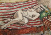 """Tabloul """"Nud pe canapea"""" de Theodor Pallady, scos la licitaţie de Casa Alis. La ce valoare este estimata opera de arta"""