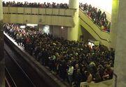 Circulatia metroului a fost oprita marti dimineata deoarece trei femei au lesinat si a fost nevoie de interventia echipajelor SMURD