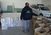 Aproape 20.000 de pachete de tigari au fost descoperite de politistii de frontiera in mai multe canapele