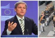 """Dacian Ciolos: """"Armata a ramas un etalon al increderii pentru romani (...) Onor voua, dragi soldati romani!"""""""