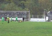 Teren de fotbal, tranformat in ring de lupta, la Valcea. Doua echipe din liga a patra s-au luat la bataie. Care a fost motivul