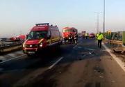 Accident in lant pe Autostrada Soarelui, pe ambele sensuri. 17 masini implicate, mai multe persoane sunt ranite