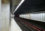 Sina de tren fisurata la Piata Romana. Din acest motiv, metrourile circula cu viteza redusa