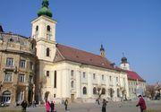 Si-a injunghiat sotul in Piata Mare din Sibiu, dupa o cearta violenta. Ce i s-a intamplat dupa femeii
