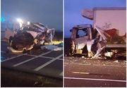 Vrancea: Patru morti si trei raniti grav, dupa ce un microbuz s-a ciocnit cu un camion de marfa. A fost declansat planul rosu de interventie. Traficul a fost reluat | UPDATE