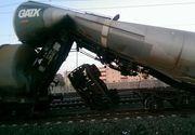 Accident feroviar in Gara Arad. O locomotiva a lovit o garnitura de cisterne cu motorina. Mecanicul locomotivei ar fi fost beat