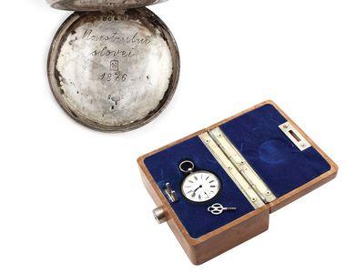 Ceasul de buzunar al lui Mihai Eminescu a fost vandut la licitatie. Acesta este unicat...