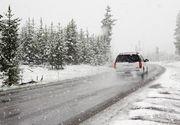 Mai mult de 75% din drumurile nationale s-ar putea bloca daca ar ninge abundent! Harta cu soselele care prezinta un risc ridicat de inzapezire