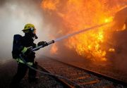 Inca o tragedie feroviara in Romania a avut loc aseara. Un tren plin cu navetisti a luat foc in apropiere de Neptun