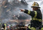 Incendiu puternic la groapa de gunoi Glina. Flacarile au curprins aproape 6.000 de metri patrati