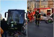Autocar in care se aflau 46 de cetateni romani, implicat intr-un accident in Ungaria