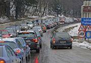 Trafic aglomerat pe Valea Prahovei, dar si in judetul Brasov. S-au format coloane de masini si pe Valea Oltului si pe A1, la intrarea in Bucuresti dinspre Pitesti | UPDATE