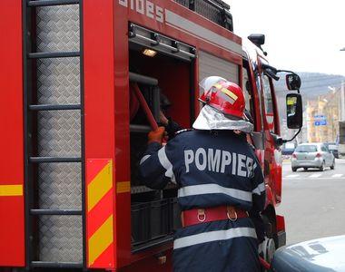 Incendiu la Autogara Rahova din Bucuresti! Un autobuz a luat foc