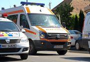Sibiu: Trafic blocat pe DN 14, dupa ce doua autoturisme s-au ciocnit. Un sofer este incarcerat