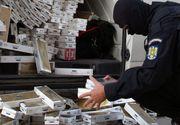 Trei barbati, prinsi in flagrant de Politia Capitalei in timp ce transportau 1,5 milioane de tigari de contrabanda