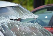 Accident cumplit in Calarasi. Paisprezece persoane au fost ranite dupa ce un microbuz s-a ciocnit cu o masina si s-a rasturnat