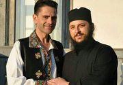 Calugarul Efrem, cel mai bun prieten al lui Aurelian Preda, gest emotionant in amintirea regretatului rapsod! Artist plastic, duhovnicul i-a pus la mormant doi ingerasi de marmura alba