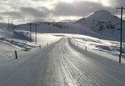 Maramures: Trafic rutier in conditii de iarna; portiuni de drumuri judetene acoperite de polei