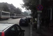 Circulatia tramvaielor, blocata pe Soseaua Progresului din Capitala din cauza unui accident rutier in care a fost ranită o persoana