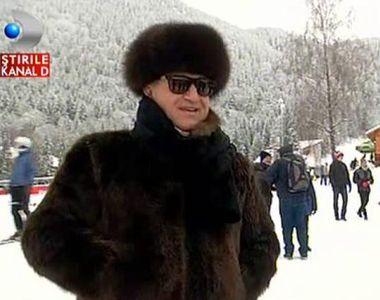 George Becali, in blana in Poiana Brasov. Turistii au dat navala sa isi faca selfie cu el