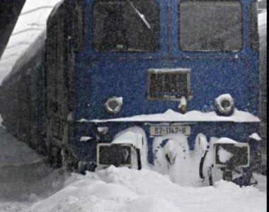 CFR Calatori: 93 de trenuri anulate, circulatie in conditii meteo nefavorabile pe...