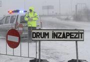 Drumurile nationale din 11 judete si autostrazile A2 si A4 sunt inchise din cauza viscolului. 30 de autoturisme sunt inzapezite in Constanta, echipele de salvare intervin