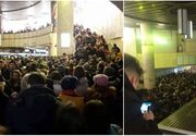 Ninsoarea abundenta a produs haos si in subteran. Aglomeratie de nedescris la statia de metrou Piata Victoriei