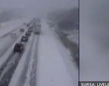 Accident in lant pe autostrada. Vremea rea da mari batai de cap soferilor