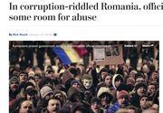 Protestele din Romania, in presa internationala. Publicatii importante abordeaza problema adoptarii Ordonantei de Urgenta care dezincrimineaza abuzul in serviciu