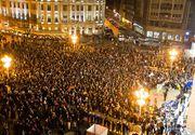 Zeci de mii de oameni au iesit in strada in toata Romania. 20.000 de persoane la Cluj, Timisoara: 15:00, Sibiuu: 10.000, Iasi: 7000. Si romanii din Londra protesteaza