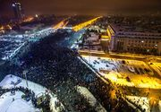 "200.000 de oameni la proteste in Bucuresti si in tara: ""Maine dimineata radem o mustata"""